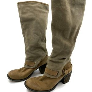 Nine West Dorada Boots 8.5 Leather Harness Buckle